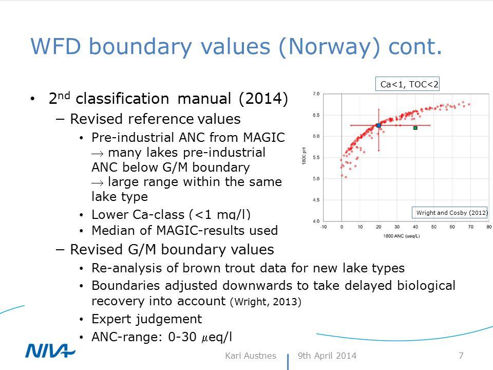 Background – variability across Norway 9th April 2014Kari Austnes 8