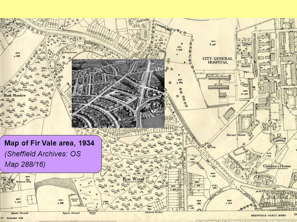 Map of Fir Vale area, 1934 (Sheffield Archives: OS Map 288/16)