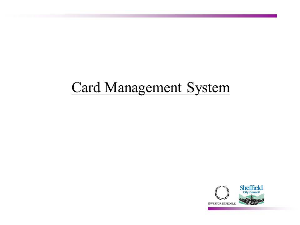 Card Management System