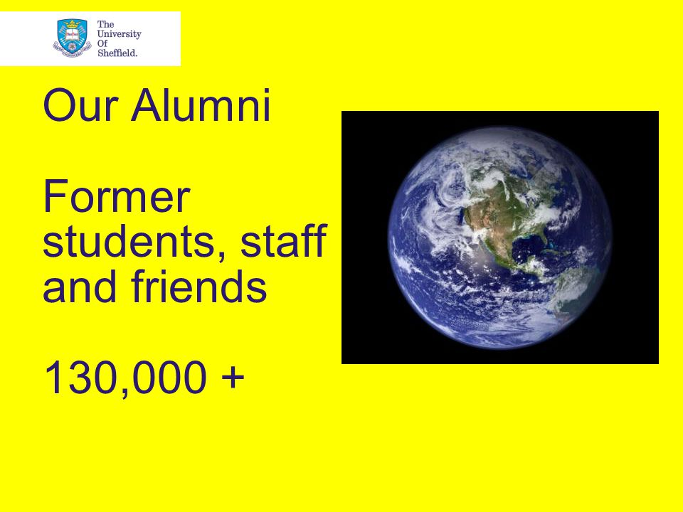 Our Alumni Former students, staff and friends 130,000 +