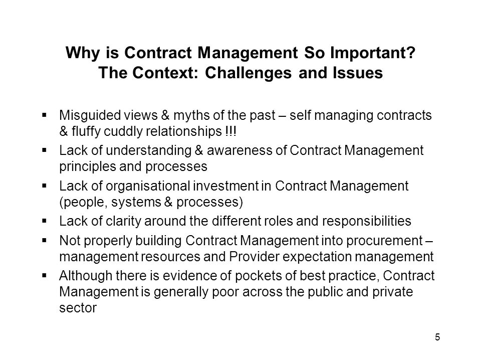 6 Why is Contract Management So Important.