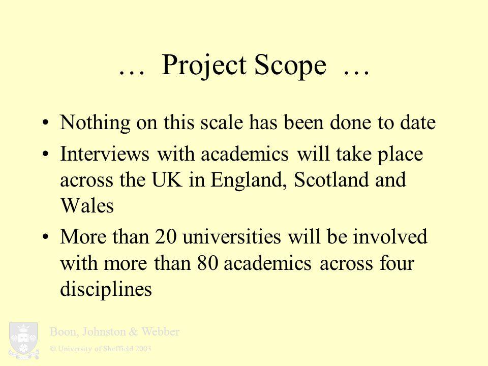 Boon, Johnston & Webber © University of Sheffield 2003 … Early finding … Librarians vs.