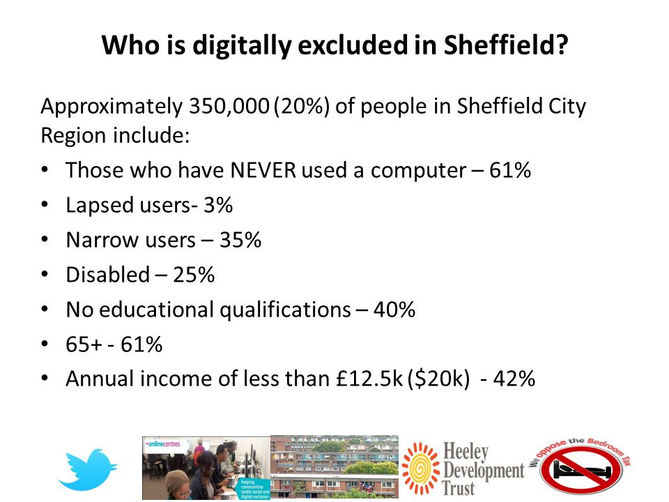 Who is digitally excluded in Sheffield.