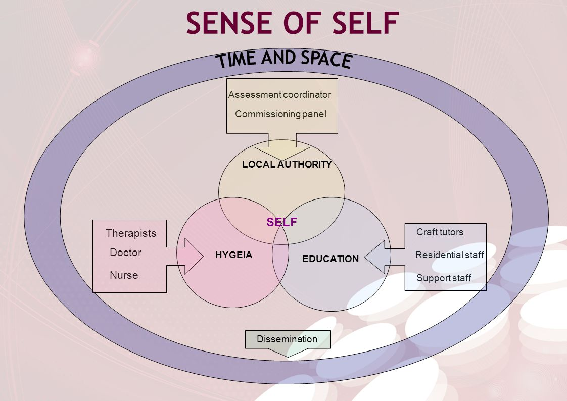 SENSE OF SELF HYGEIA EDUCATION LOCAL AUTHORITY SELF Therapists Doctor Nurse Assessment coordinator Commissioning panel Craft tutors Residential staff