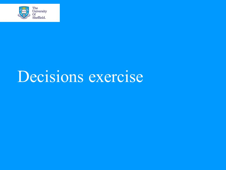 Decisions exercise