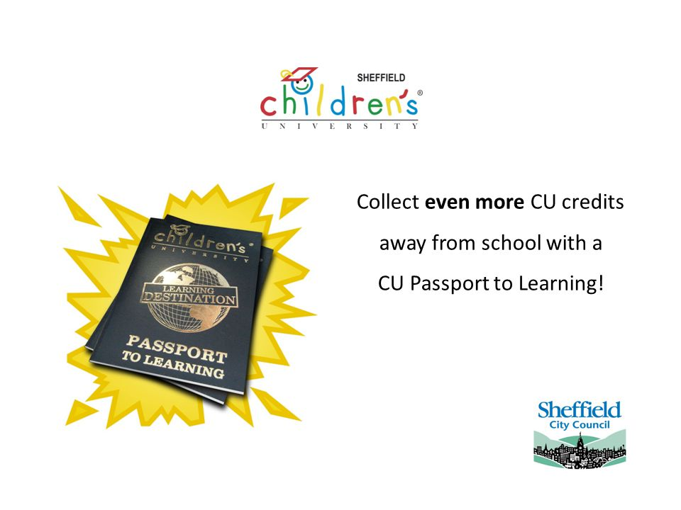 Collect even more CU credits away from school with a CU Passport to Learning!