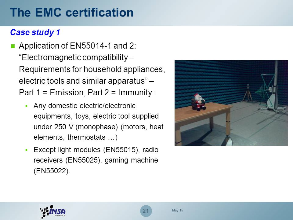 """Application of EN55014-1 and 2: """"Electromagnetic compatibility – Requirements for household appliances, electric tools and similar apparatus"""" – Part 1"""