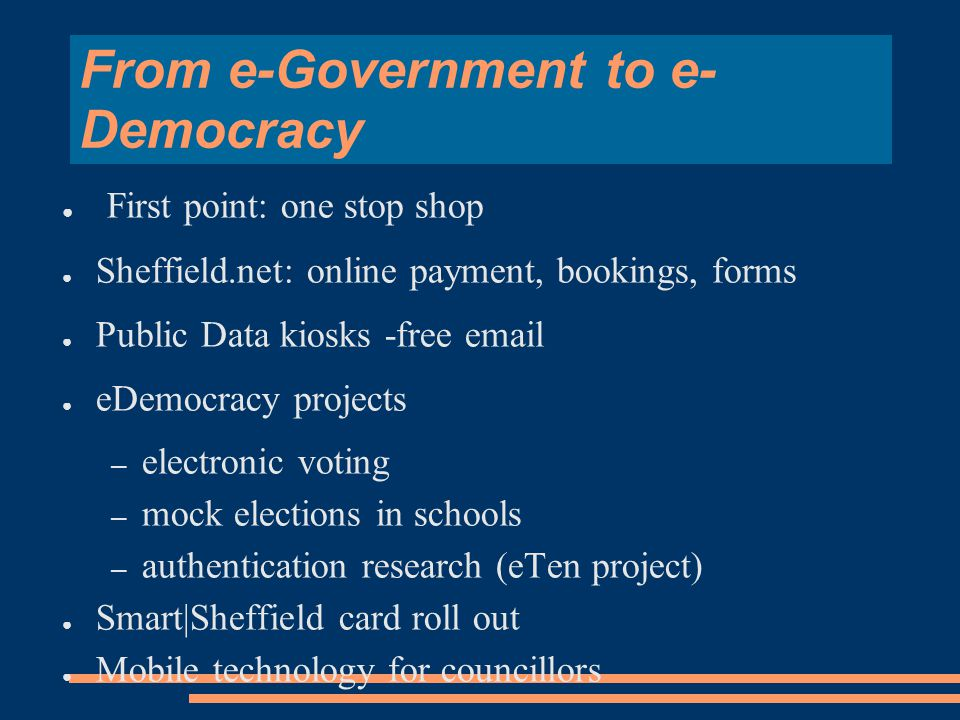 In the Beginning...... e-Information = e-Government