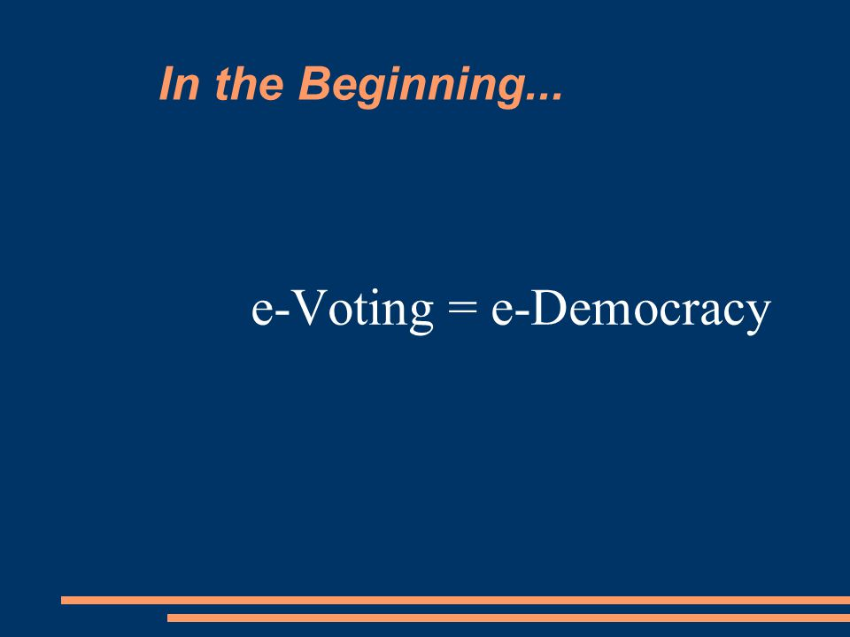 e-Voting: From the Internet