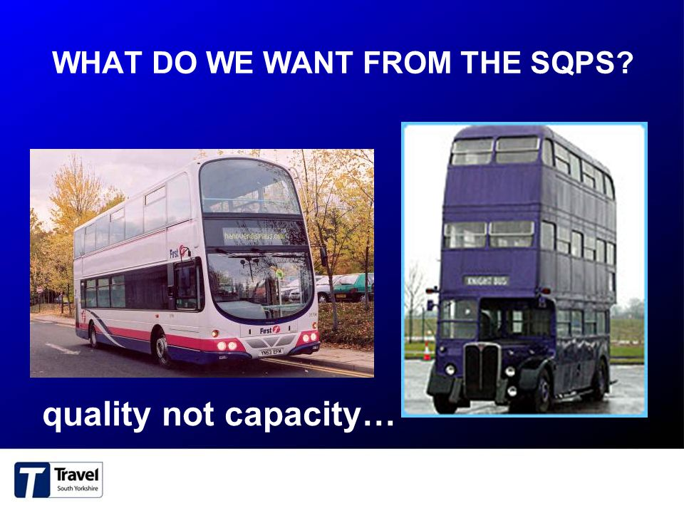 WHAT DO WE WANT FROM THE SQPS? quality not capacity…