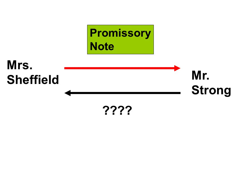 Mrs. Sheffield Promissory Note Mr. Strong
