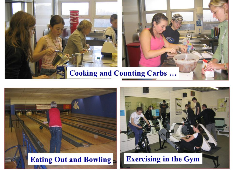 Cooking and Counting Carbs … Eating Out and Bowling Exercising in the Gym
