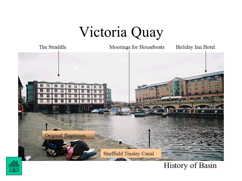 Victoria Quay History of Basin The StraddleHoliday Inn HotelMoorings for Houseboats Sheffield Tinsley Canal Original flagstones