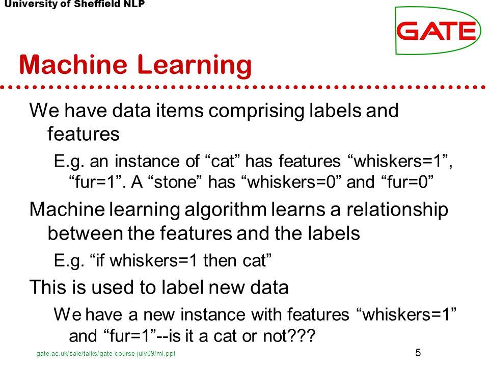 ©2012 Paula Matuszek GATE information based on http://gate.ac.uk/sale/tao/splitch18.htmlhttp://gate.ac.uk/sale/tao/splitch18.html Messy Data l This is all good so far.