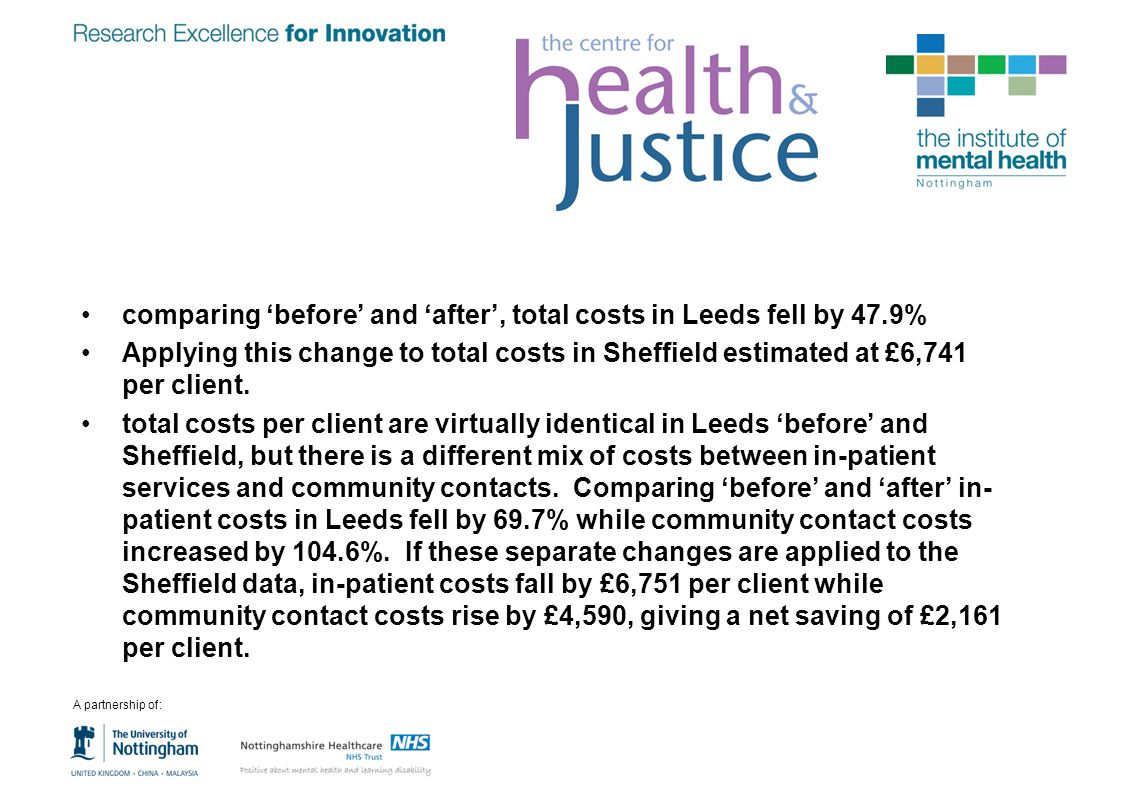 The Secure Services Commissioning Team provided information regarding out of area spend on low secure placements for individuals with personality disorder throughout this period and indicate that on average over the three years Leeds would have three clients in such placements and Sheffield seven.