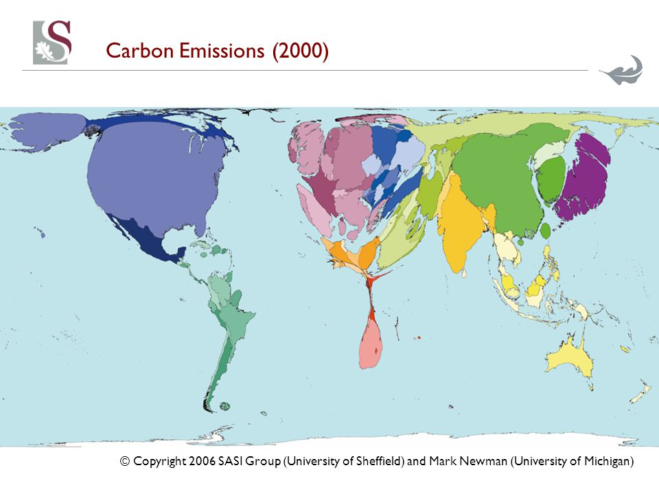 Carbon Emissions (2000) © Copyright 2006 SASI Group (University of Sheffield) and Mark Newman (University of Michigan)