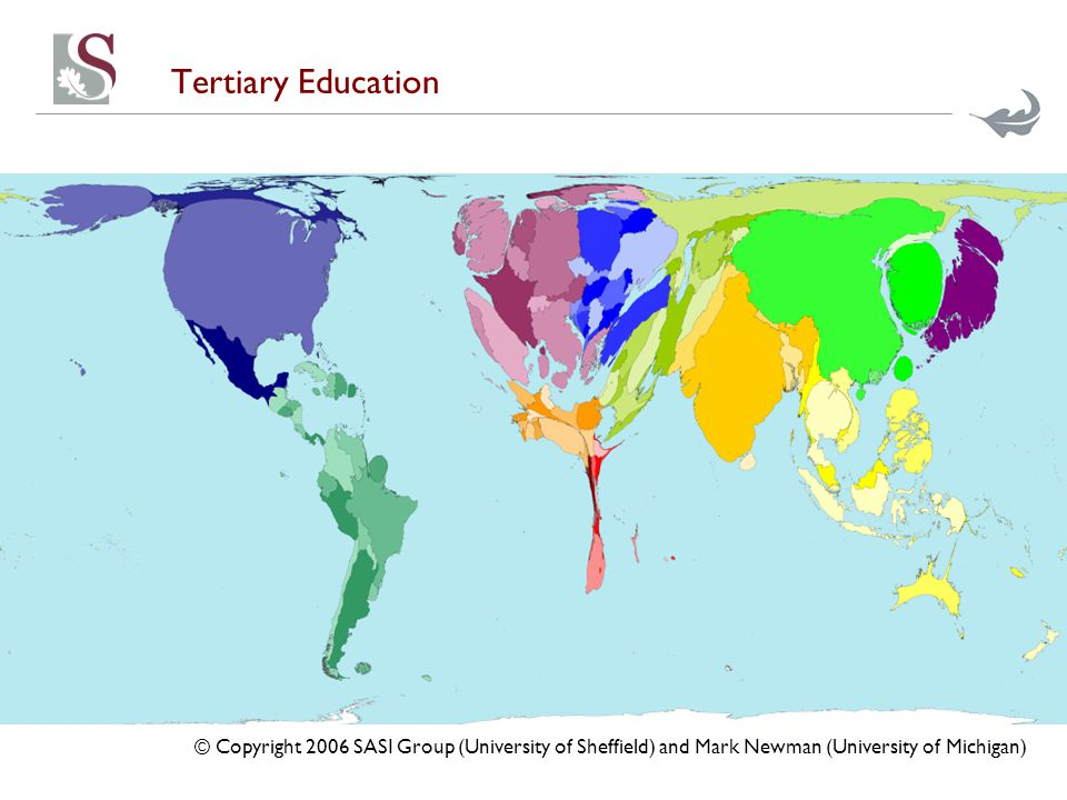 Tertiary Education © Copyright 2006 SASI Group (University of Sheffield) and Mark Newman (University of Michigan)