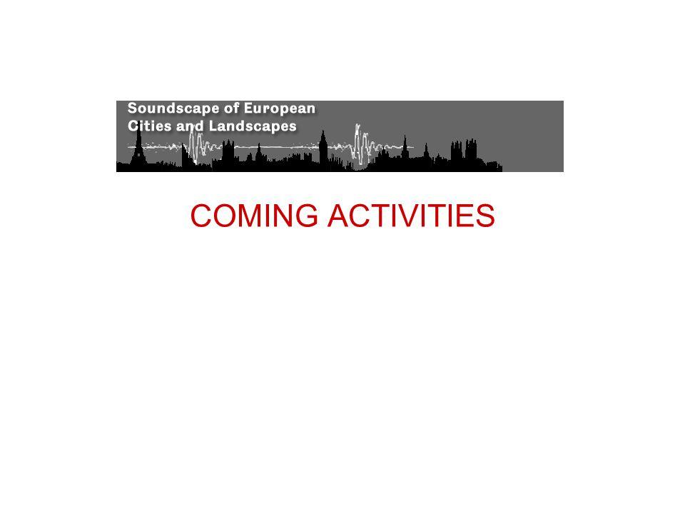 COMING ACTIVITIES