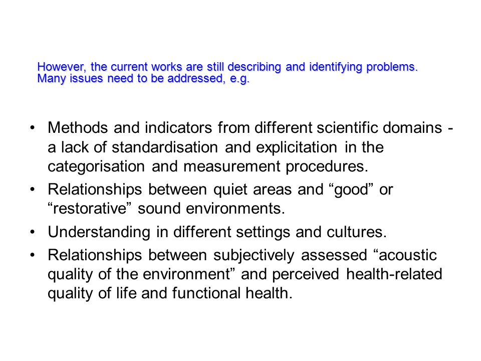 Methods and indicators from different scientific domains - a lack of standardisation and explicitation in the categorisation and measurement procedures.