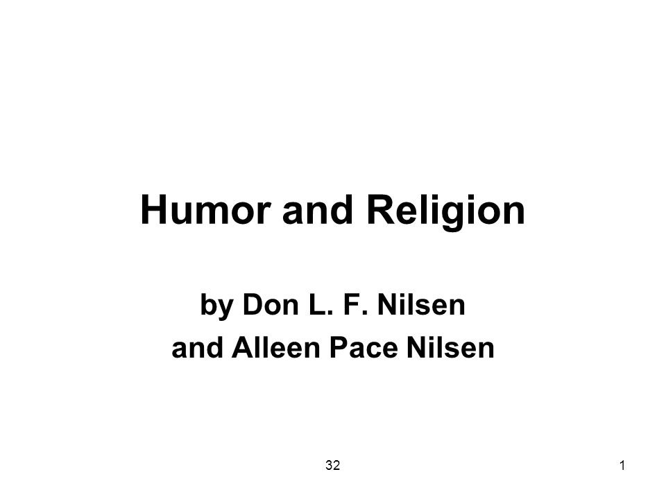 321 Humor and Religion by Don L. F. Nilsen and Alleen Pace Nilsen