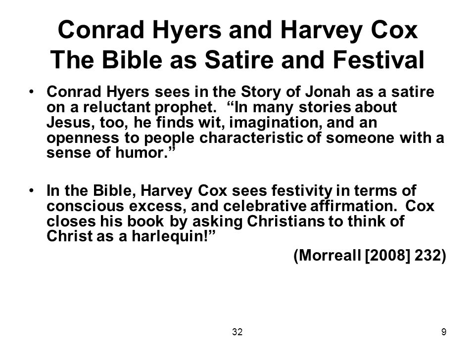 3220 References: Aichele, George.Theology as Comedy: Critical and Theoretical Explorations.