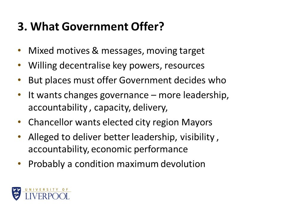 3. What Government Offer.