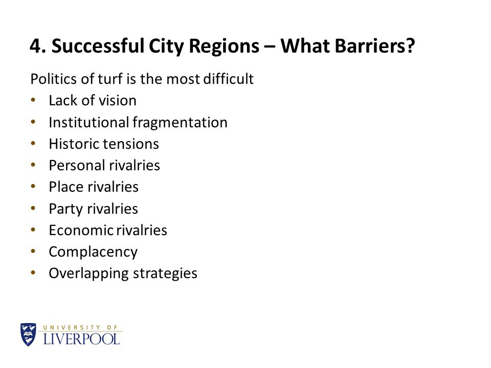 4. Successful City Regions – What Barriers.