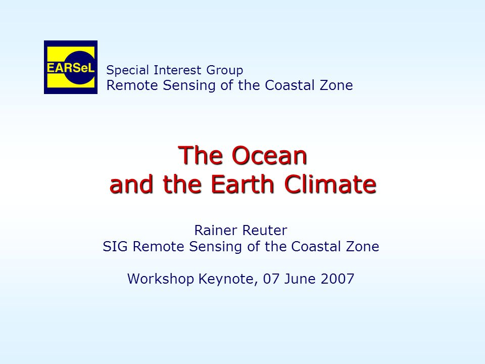 The Ocean and the Earth Climate Bolzano, 07 June 2007 Thank You!