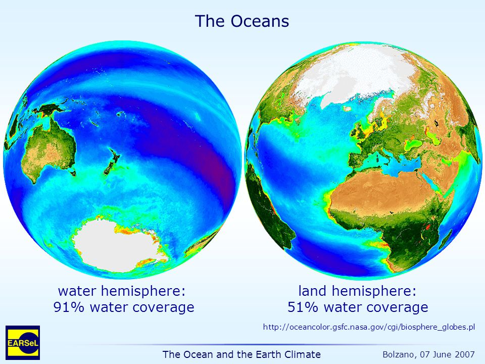 The Ocean and the Earth Climate Bolzano, 07 June 2007 http://data.giss.nasa.gov/gistemp/ Mean lower atmosphere (land & ocean) anomaly relative to 1951-1980 T / °C year Annual mean 5-year mean 1.Temperature