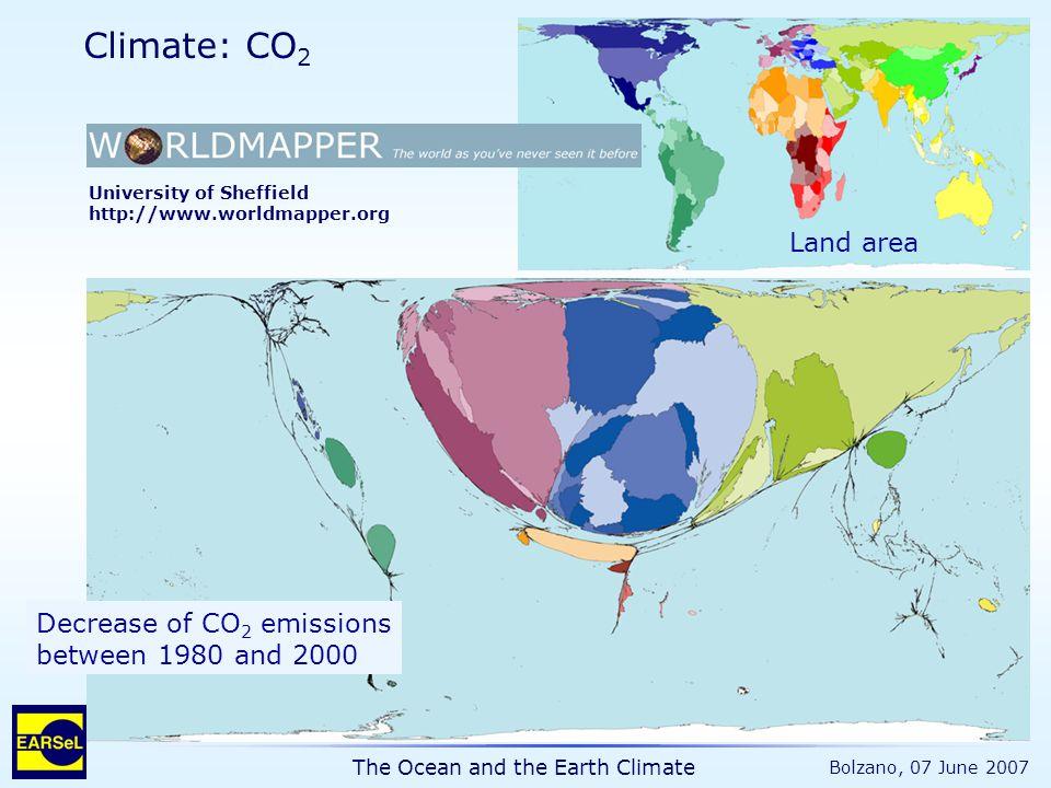 "The Ocean and the Earth Climate Bolzano, 07 June 2007 Hansen et al., Science, 2005 1,0 W/m 2 0,85 W/m 2 are still ""in the pipeline +0,7°C Atm."