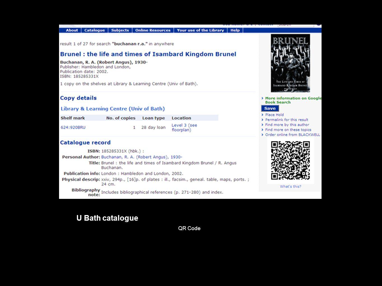 U Bath catalogue QR Code