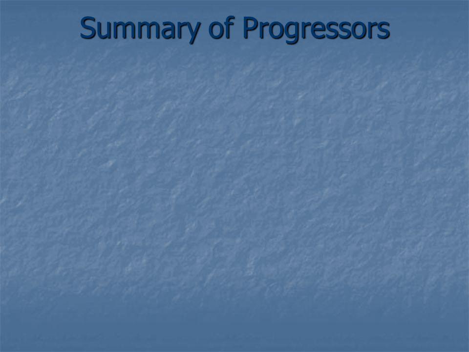 Summary of Progressors