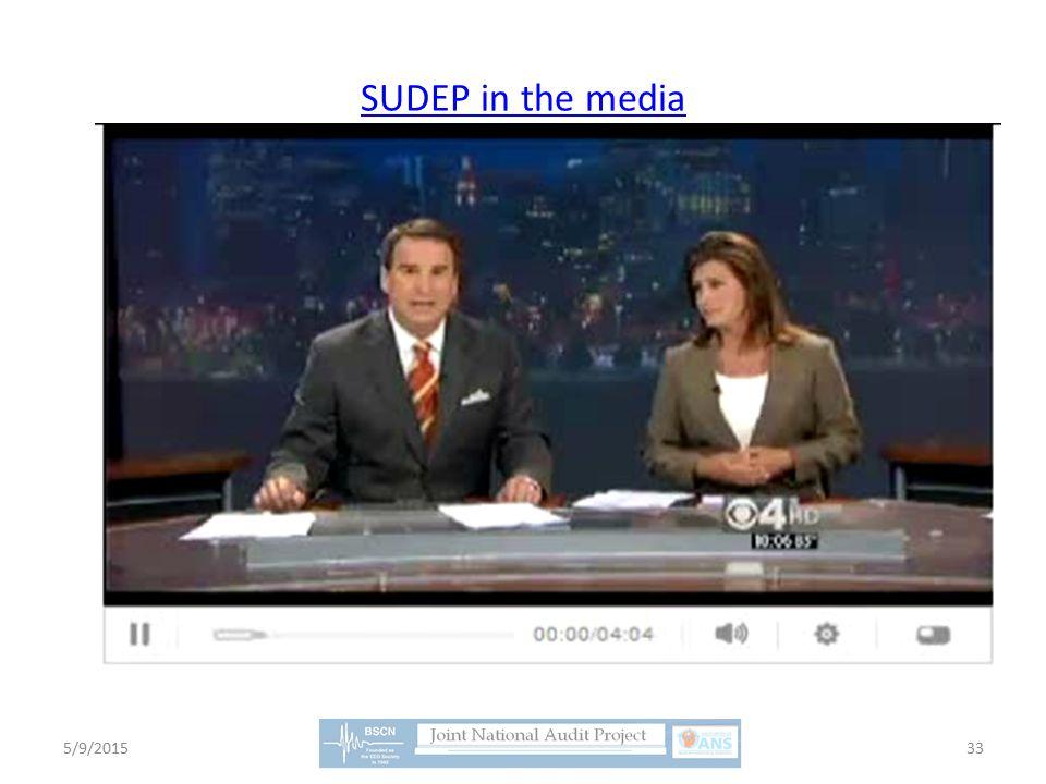 SUDEP in the media 5/9/201533