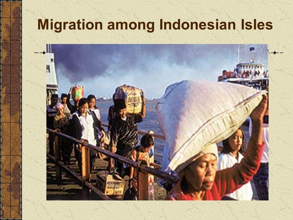 Migration among Indonesian Isles