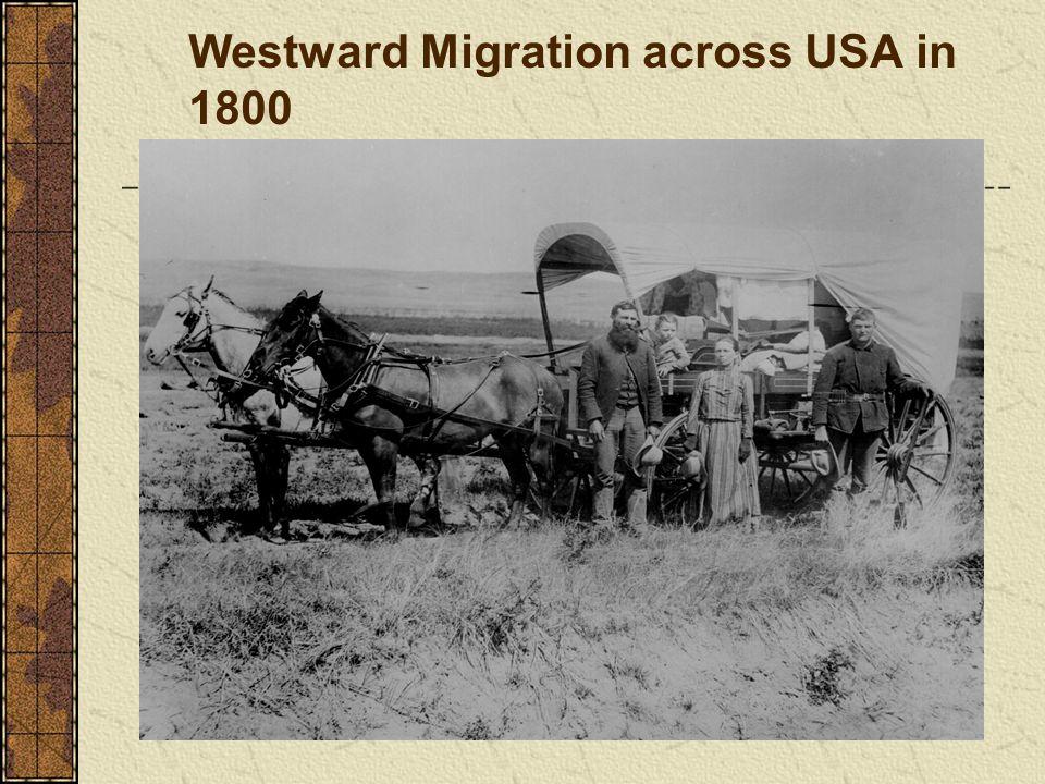 Westward Migration across USA in 1800
