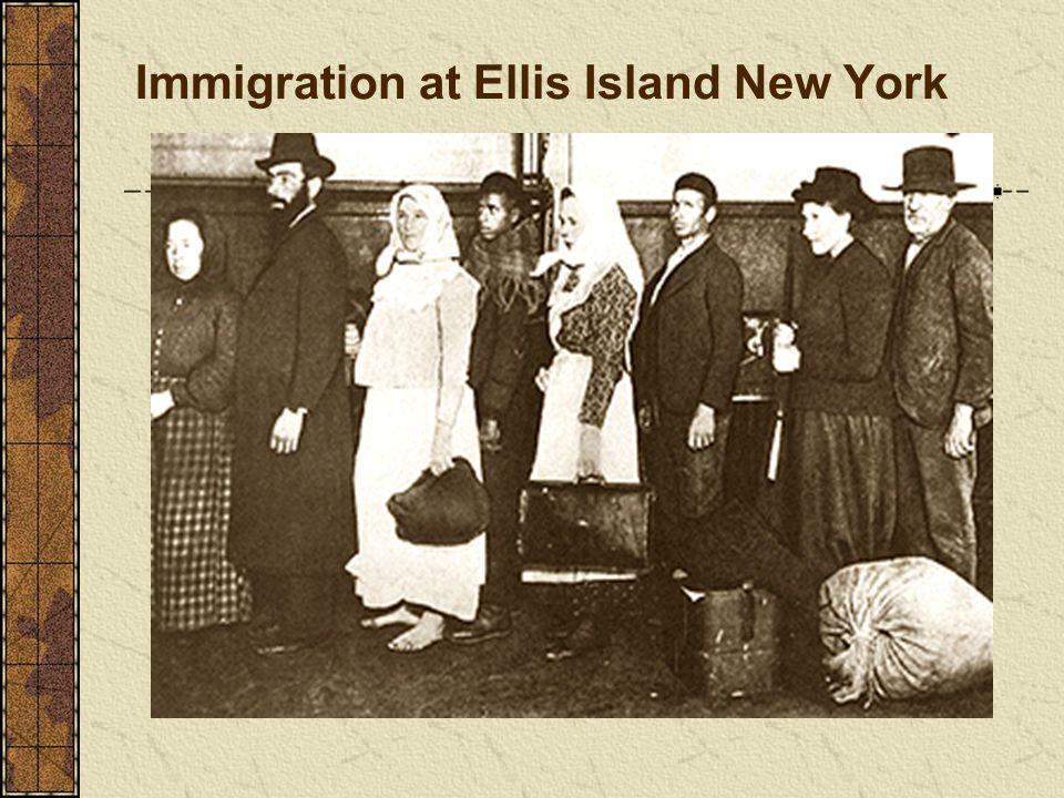 Immigration at Ellis Island New York