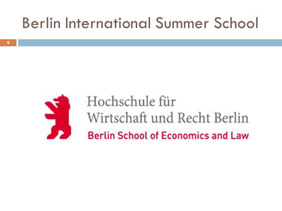 Berlin International Summer School 9