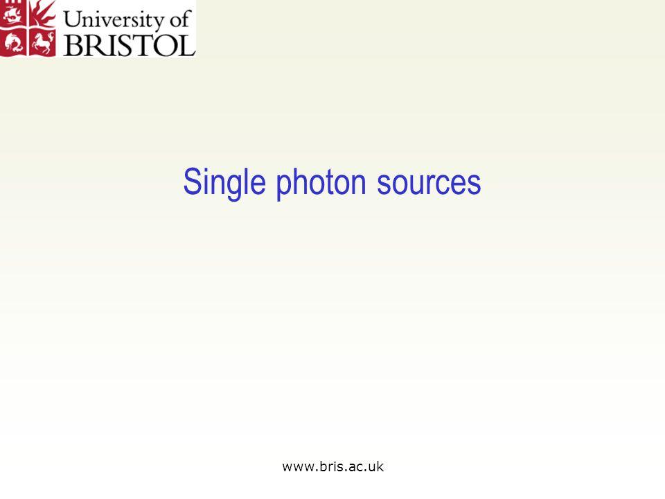 www.bris.ac.uk Single photon sources
