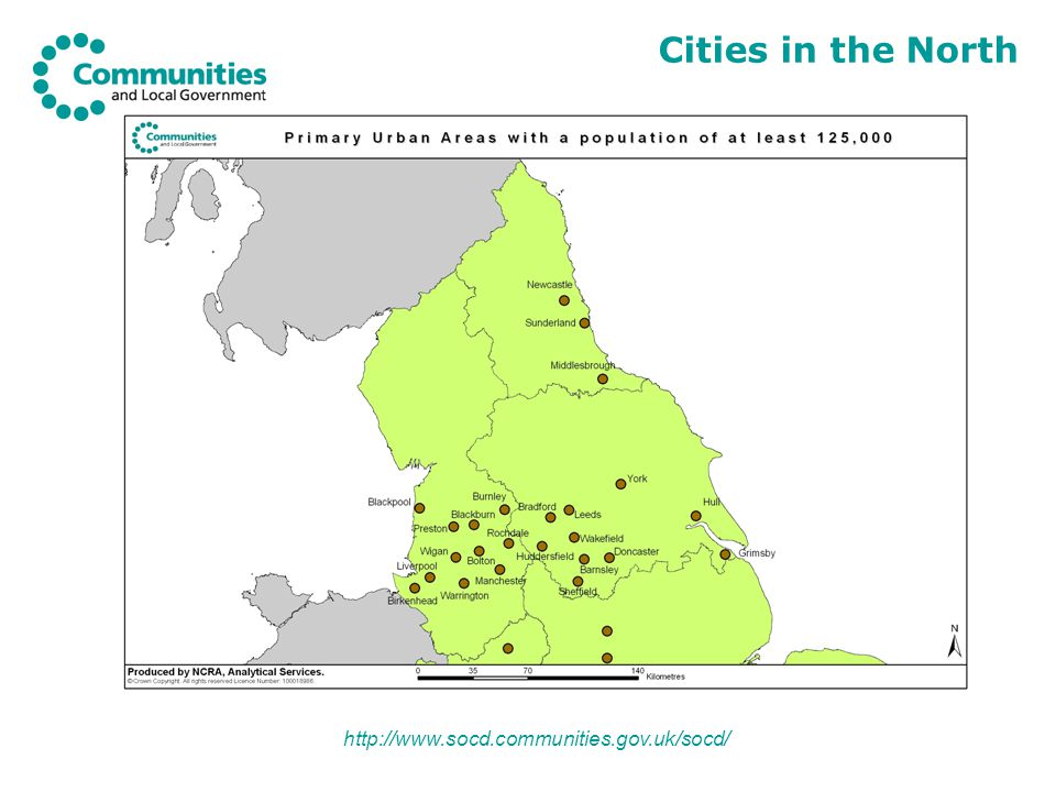 http://www.socd.communities.gov.uk/socd/ Cities in the North