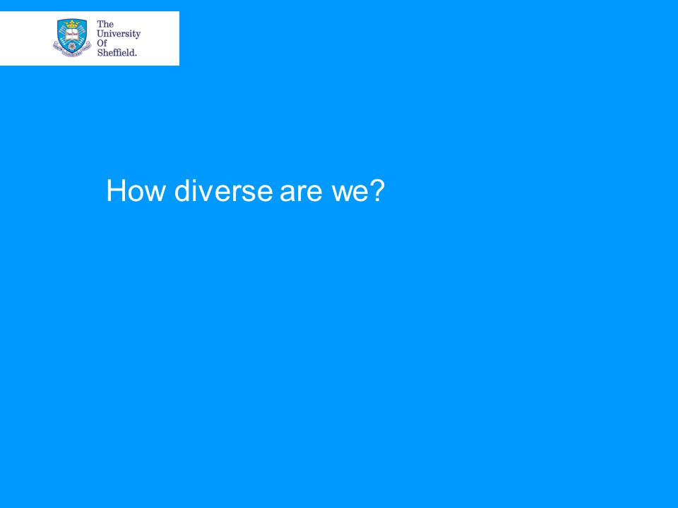 How diverse are we?