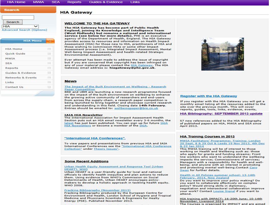 27 th February 2014. HIA Workshop: Sheffield What can you find on the HIA GAteway
