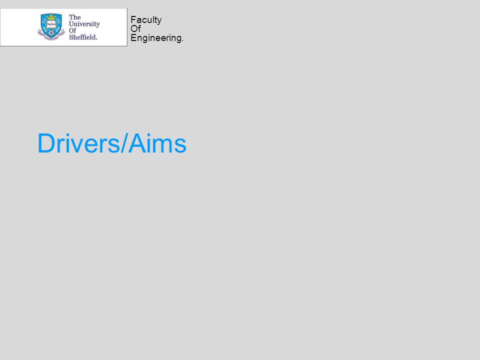 Faculty Of Engineering. Drivers/Aims