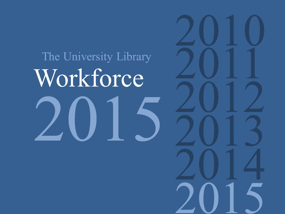 2010 2011 2012 2013 2014 2015 The University Library Workforce 2015