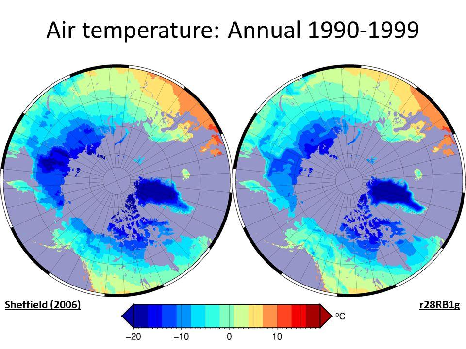 Air temperature: Annual 1990-1999 Sheffield (2006)r28RB1g