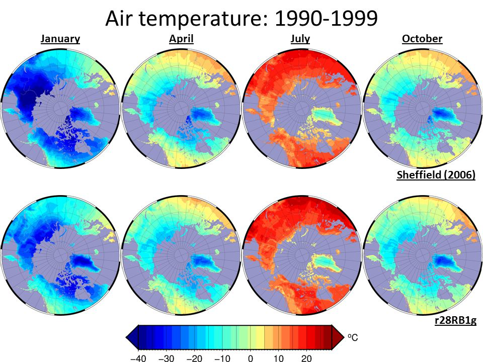 Air temperature: 1990-1999 Sheffield (2006) r28RB1g JanuaryApril July October