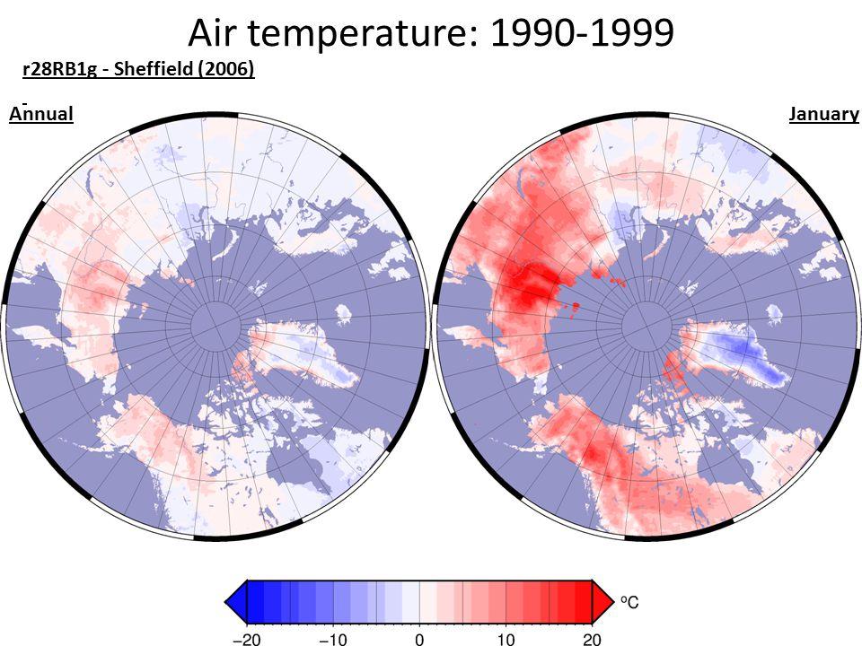 Air temperature: 1990-1999 r28RB1g - Sheffield (2006) AnnualJanuary