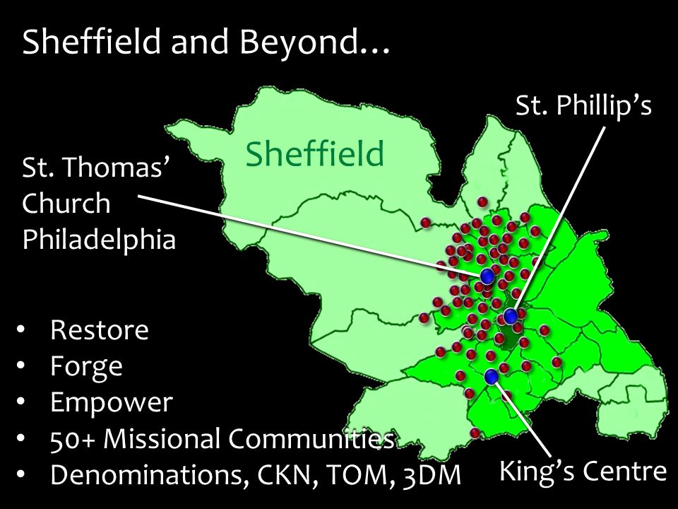 Sheffield and Beyond… St. Thomas' Church Philadelphia King's Centre St.