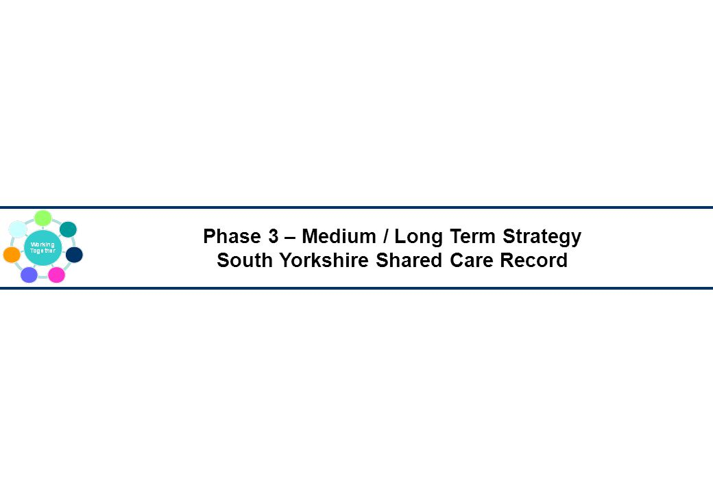 Phase 3 – Medium / Long Term Strategy South Yorkshire Shared Care Record
