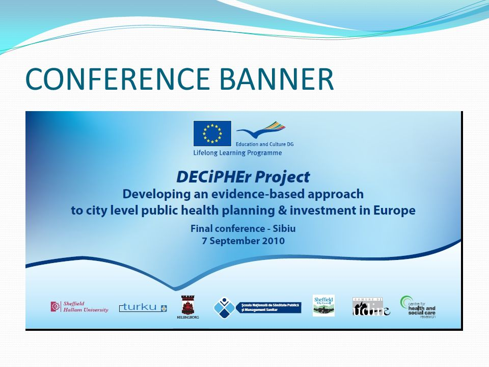 CONFERENCE BANNER