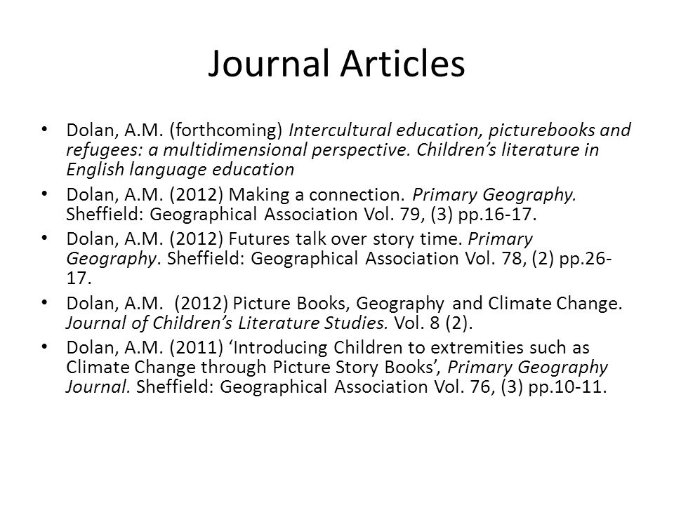Journal Articles Dolan, A.M.